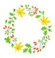 fall season wreath autumn border with bright vector image vector image