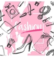 fashion sketch clutches vector image vector image