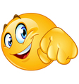 fist bump emoticon vector image vector image