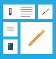 flat icon stationery set of dossier pencil vector image