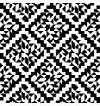 geometric black and white ornament geometric vector image vector image