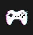 glitched icon of gamepad vector image vector image