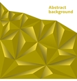 Golden Polygonal Background vector image vector image