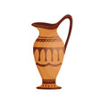greek pottery jug decorated hellenic ornaments vector image vector image