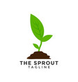 green sprout graphic design element vector image vector image