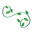 Green swirly leaves logo vector image vector image