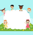 group of happy children group of happy children vector image vector image