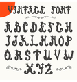 Hand drawn vintage font alphabet