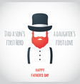 happy fathers day greeting card fathers day vector image vector image