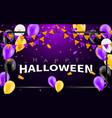 happy halloween carnival background orange purple vector image