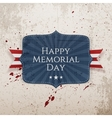 Happy Memorial Day Sign with Ribbon vector image vector image