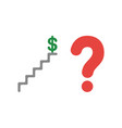 icon concept of dollar money symbol on top of vector image