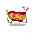 in love flag spain isolated in cartoon vector image vector image