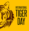 international tiger day vector image