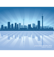 Johannesburg South Africa city skyline silhouette vector image vector image