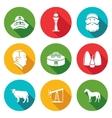 Kazakhstan Icons Set vector image vector image