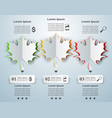 leaf six cut paper infographic vector image vector image