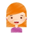 little girl character icon vector image vector image