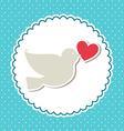 love bird design vector image