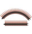 machine-gun belt vector image vector image
