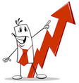 man and the growing chart vector image
