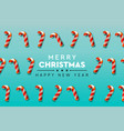 merry christmas background with candy canes vector image