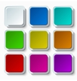modern colorful web buttons set vector image vector image