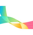 multicolored abstract background rainbow striped vector image vector image