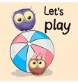 Owls vector image vector image