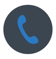 Phone flat smooth blue colors round button vector image vector image