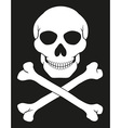 pirate skull and crossbones 02 vector image vector image