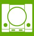 playstation icon green vector image
