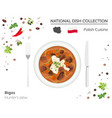polish cuisine european national dish collection vector image vector image