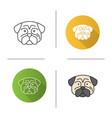 pug icon vector image vector image