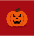 pumkin on red background vector image vector image