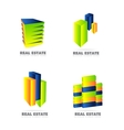 Real estate logo set icon vector image vector image