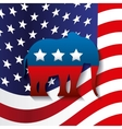 Republican political party animal vector image vector image