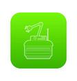 robot crane icon green vector image
