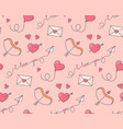 romantic symbols seamless pattern vector image vector image