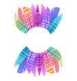 round frame with multicolored boho feathers of vector image vector image