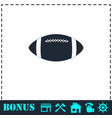 rugby ball icon flat vector image vector image