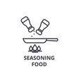 seasoning food line icon outline sign linear vector image vector image