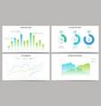 set graphs and charts vector image