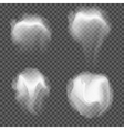 set transparent realistic white grey vector image vector image