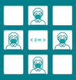 social distancing vector image