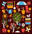 spring symbol gardening vector image vector image