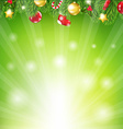 Sunburst Xmas Banner vector image vector image