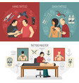 tattoo studio design concept vector image