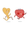 Two running characters vector image