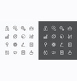 usiness icons set flat line design for Web vector image vector image
